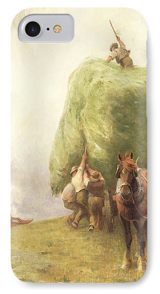 Roping The Wagon IPhone Case by Henry H Sands