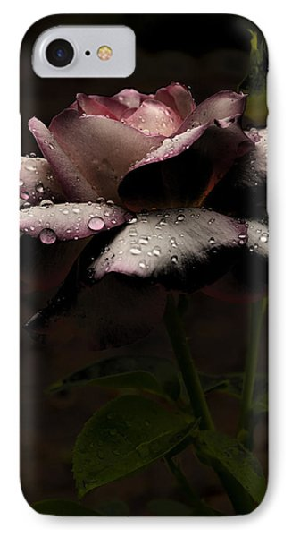 Rose After Dark IPhone Case by Barbara Middleton