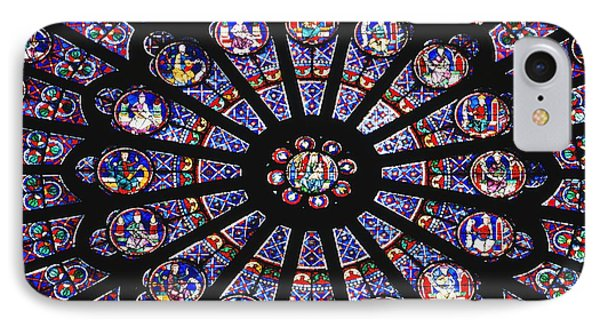Rose Window In The Notre Dame Cathedral Phone Case by Axiom Photographic