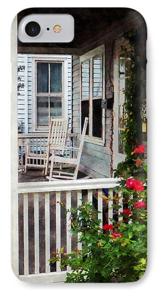 Roses And Rocking Chairs Phone Case by Susan Savad
