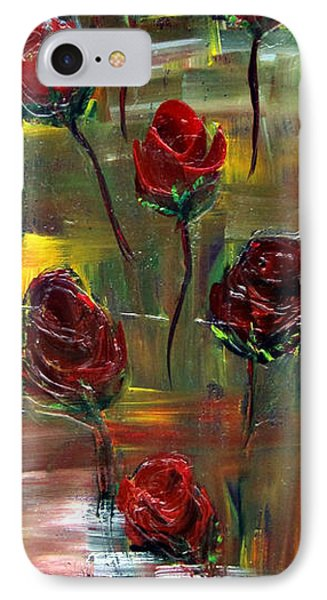 IPhone Case featuring the painting Roses Free by Kathy Sheeran