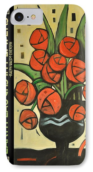 Roses In Vase Poster Phone Case by Tim Nyberg