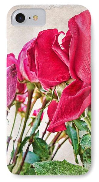 Roses In White Phone Case by Joan  Minchak