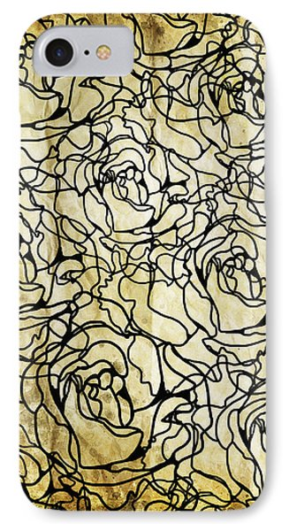 Roses Pattern Phone Case by Setsiri Silapasuwanchai