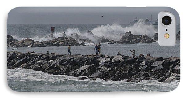 Rough Seas To Block Island IPhone Case