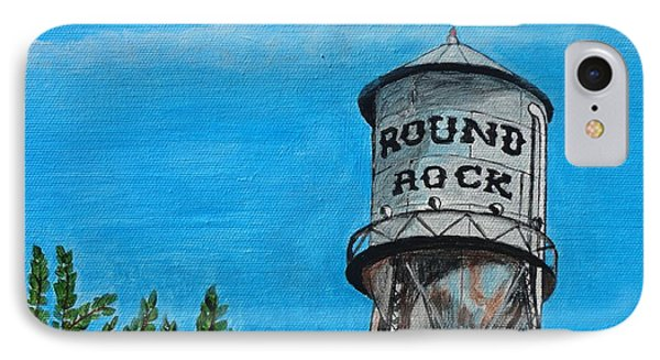 Round Rock Texas IPhone Case by Manny Chapa