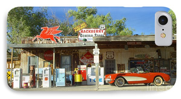 Route 66 Hackberry Arizona Phone Case by Bob Christopher