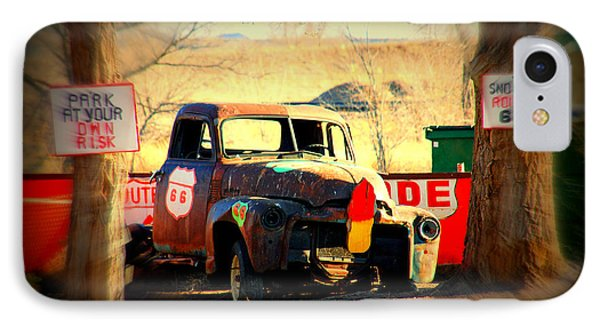 Route 66 Parking Lot Phone Case by Susanne Van Hulst