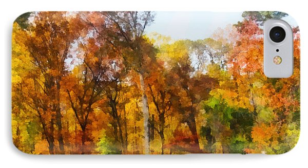 Row Of Autumn Trees Phone Case by Susan Savad
