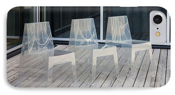 Row Of Modern Translucent Chairs Phone Case by Jaak Nilson