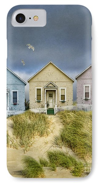 Row Of Pastel Colored Beach Cottages IPhone Case by Jill Battaglia