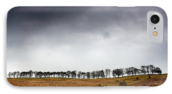 Row Of Trees In A Field, Yorkshire Phone Case by John Short