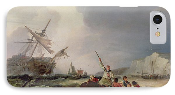 Rowing Boat Going To The Aid Of A Man-o'-war In A Storm IPhone Case