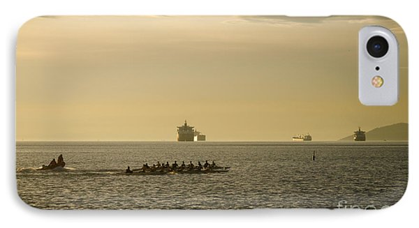 Rowing Training Off Sunset Beach Park False Creek Vancouver Bc Canada Phone Case by Andy Smy