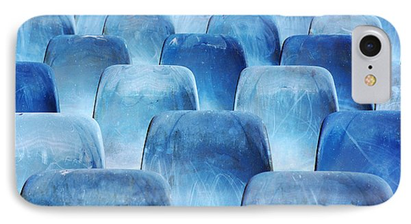 Rows Of Blue Chairs Phone Case by Carlos Caetano