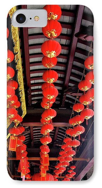 Rows Of Red Chinese Paper Lanterns - Shanghai China Phone Case by Christine Till