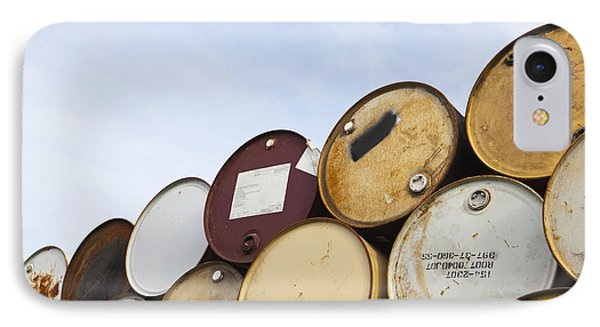 Rows Of Stacked Barrels Phone Case by Paul Edmondson