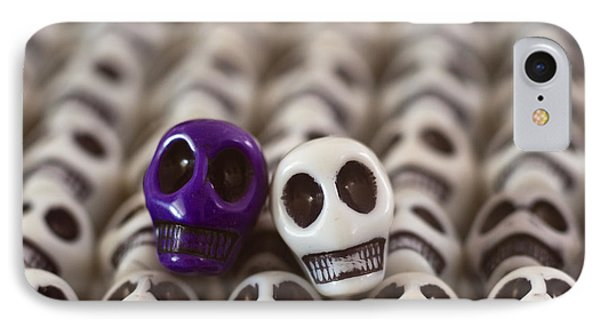 Royal Purple And White Phone Case by Mike Herdering