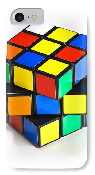 Rubiks Cube Phone Case by Photo Researchers
