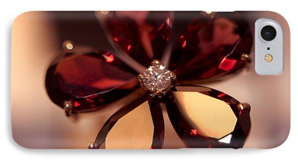 Ruby Ring. Spirit Of Treasure Phone Case by Jenny Rainbow