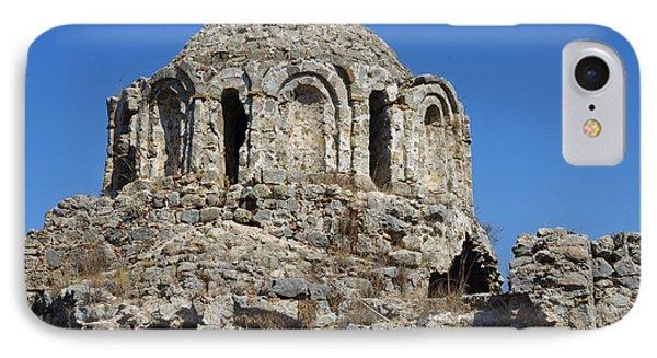 Ruins Of Byzantine Basilica Alanya Castle Turkey Phone Case by Matthias Hauser