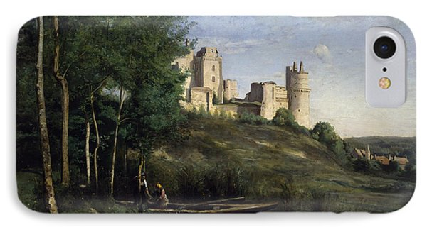 Ruins Of The Chateau De Pierrefonds Phone Case by Jean Baptiste Camille Corot