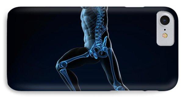 Running Skeleton, Artwork Phone Case by Sciepro