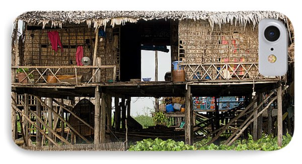 Rural Fishermen Houses In Cambodia IPhone Case by Artur Bogacki