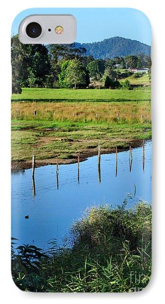 Rural Landscape After Rain Phone Case by Kaye Menner