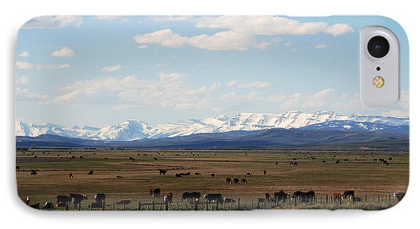 Rural Wyoming - On The Way To Jackson Hole Phone Case by Susanne Van Hulst