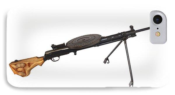 Russian 7.62mm Degtyarev Dp Machine Gun Phone Case by Andrew Chittock