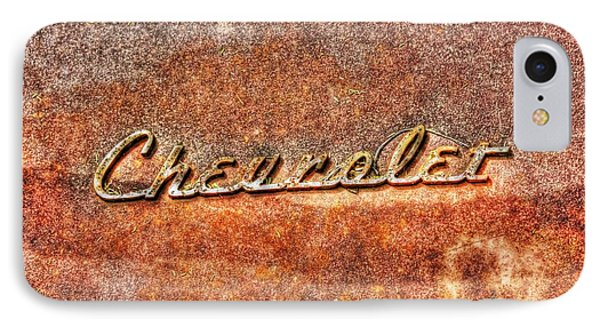 Rusted Antique Chevrolet Logo IPhone Case by Dan Stone
