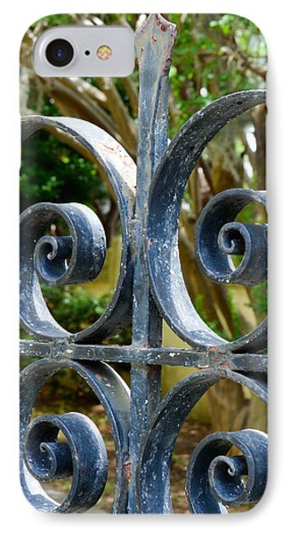 Rusted Charleston Ironwork IPhone Case by Debbie Karnes