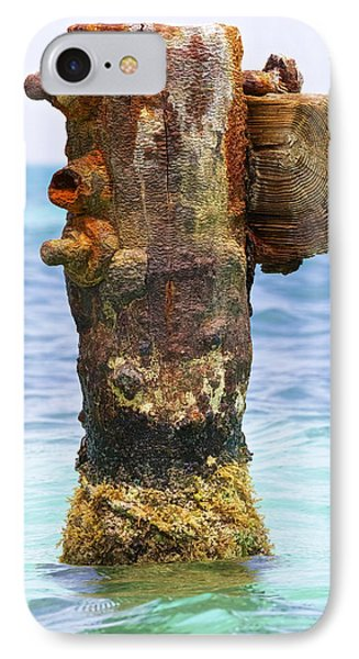 Rusted Dock Pier Of The Caribbean II Phone Case by David Letts