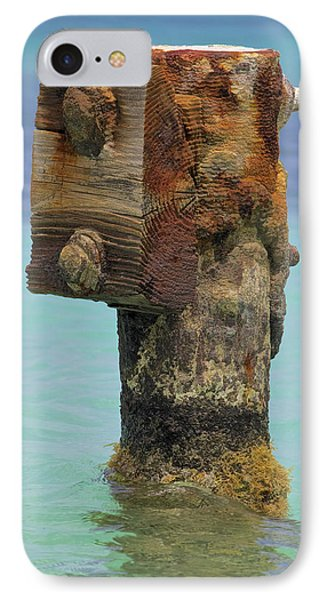 Rusted Dock Pier Of The Caribbean Iv Phone Case by David Letts