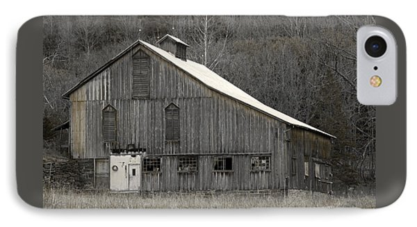 Rustic Weathered Mountainside Cupola Barn Phone Case by John Stephens