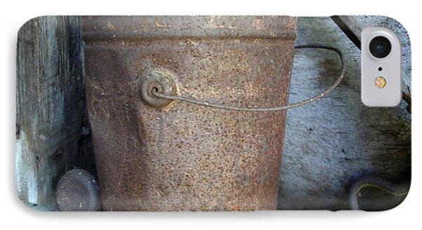 Rusty Bucket IPhone Case by Kerri Mortenson