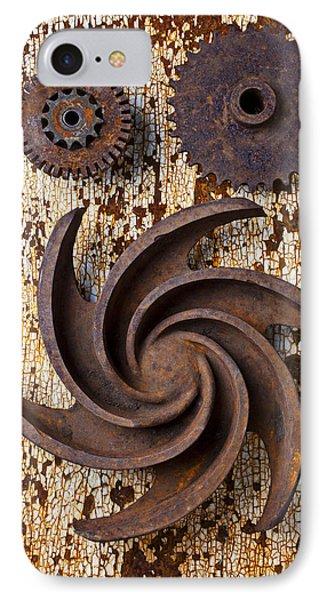 Rusty Gears Phone Case by Garry Gay