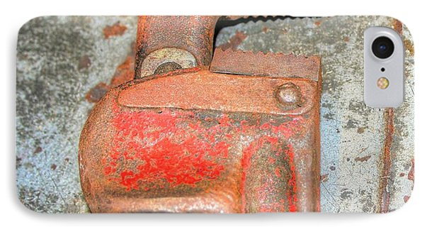 Rusty Pipe Wrench Phone Case by Ester  Rogers