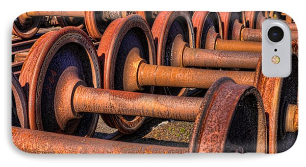 Rusty Railroad Car Wheelsets IPhone Case by Clarence Holmes