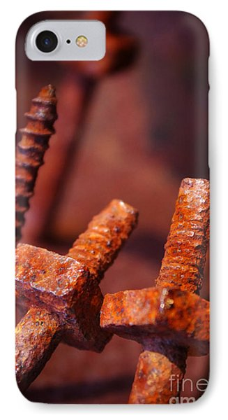 Rusty Screws Phone Case by Carlos Caetano