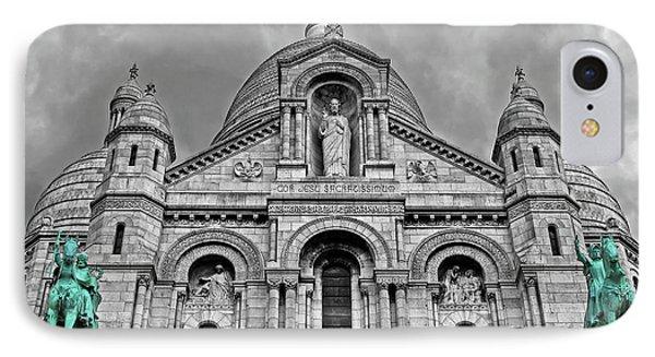 IPhone Case featuring the photograph Sacre Coeur Montmartre Paris by Dave Mills