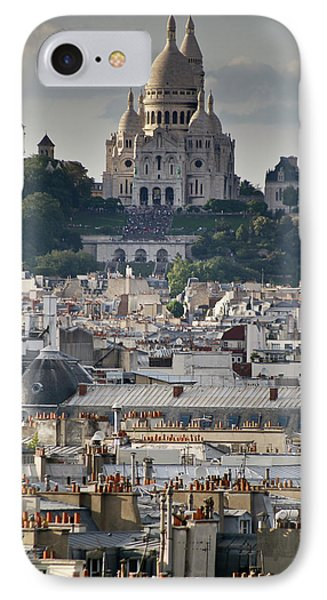 Sacre Coeur Rooftops Phone Case by Gary Eason