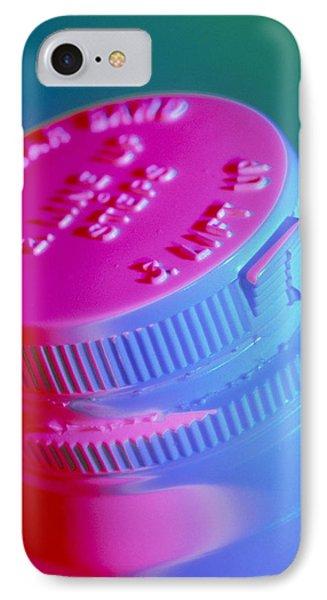 Safety Cap On A Medicine Bottle Phone Case by Steve Horrell