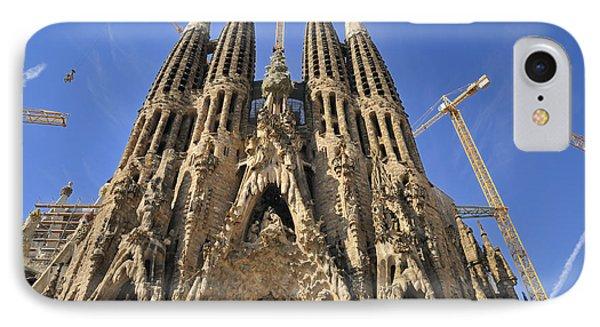 Sagrada Familia - Impressive Church From Gaudi In Barcelona Phone Case by Matthias Hauser