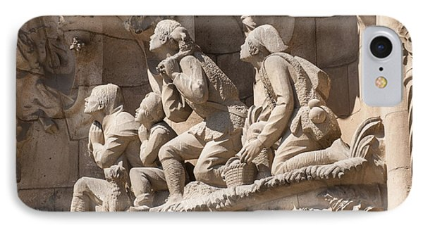 Sagrada Familia Barcelona Nativity Facade Detail Phone Case by Matthias Hauser