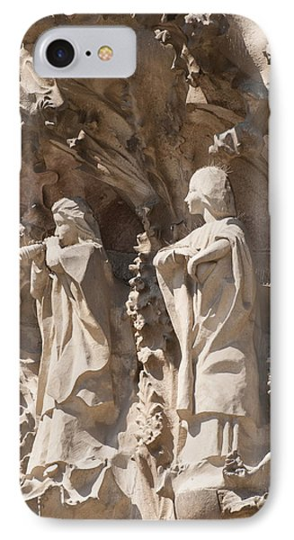 Sagrada Familia Nativity Facade Detail Phone Case by Matthias Hauser