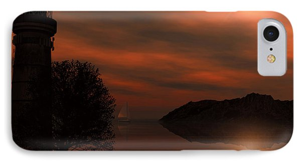 Sail At Dusk IPhone Case by Lourry Legarde