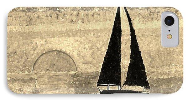 Sail In Sepia Sea Phone Case by Sonali Gangane