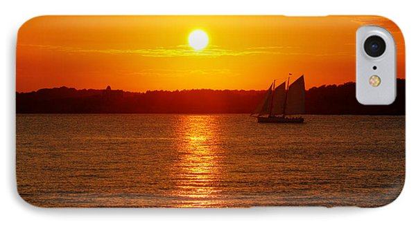 Sail Off Into The Sunset Phone Case by Andrew Pacheco